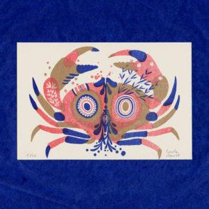 Carte Postale Crabe