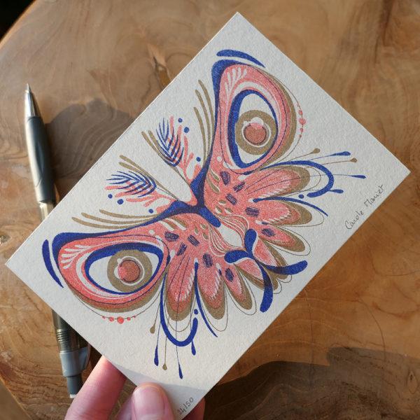 Carte postale Papillon