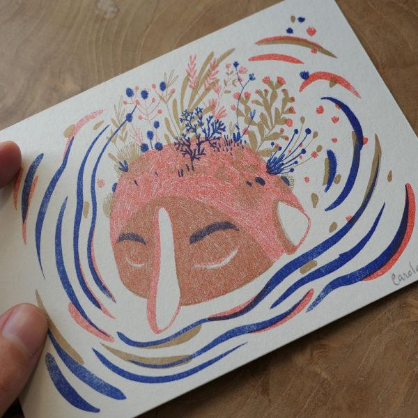 Carte postale Tête Rocher
